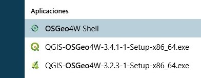 Instalar paquetes python qgis consola osgeo