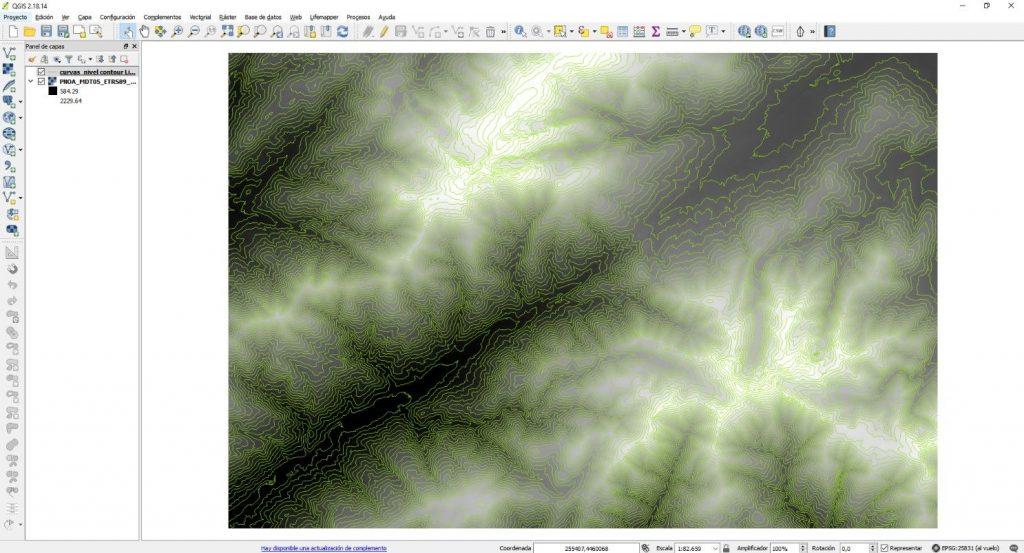 Extraer curvas de nivel con QGIS - Imagen 3