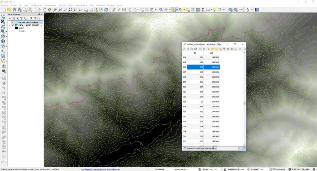 Extraer curvas de nivel con QGIS - Imagen 4