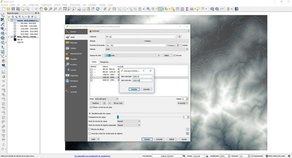 Extraer curvas de nivel con QGIS - Imagen 5