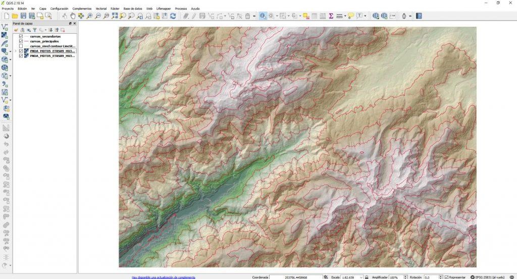 Extraer curvas de nivel QGIS - Imagen 11