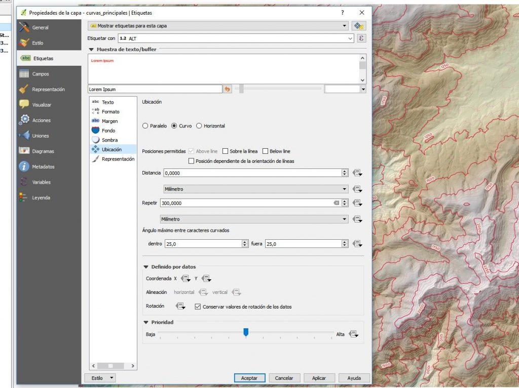 Representar curvas de nivel QGIS - Imagen 13