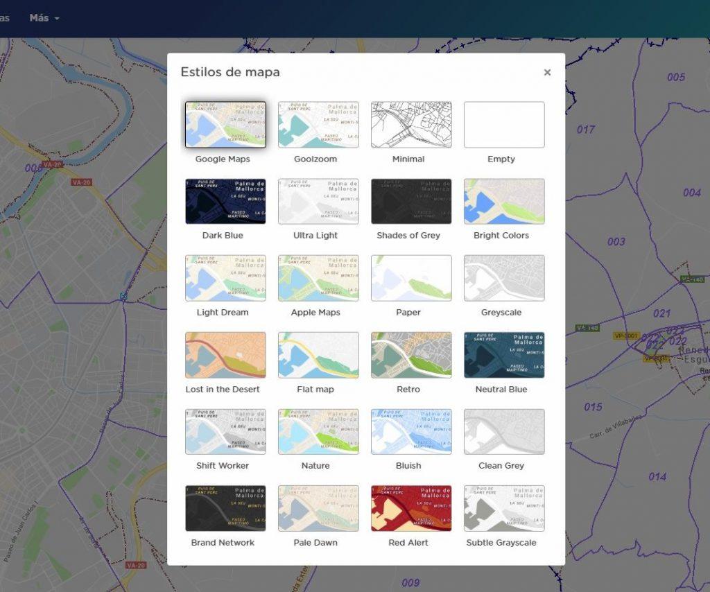 goolzoom visor catastro mapa base google maps