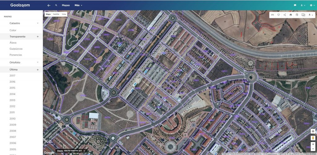 goolzoom visor catastro pro imagen satelite nueva
