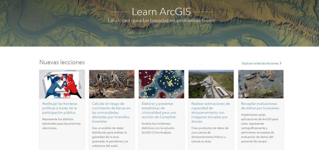 aprender GIS arcgis ESRI