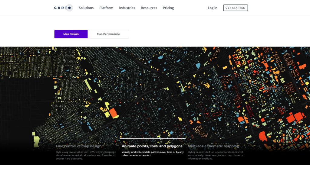 CARTO librería web mapping