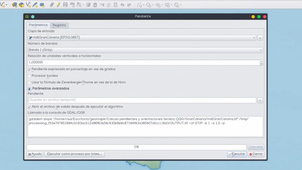 Realizar cálculo pendientes terreno QGIS 3