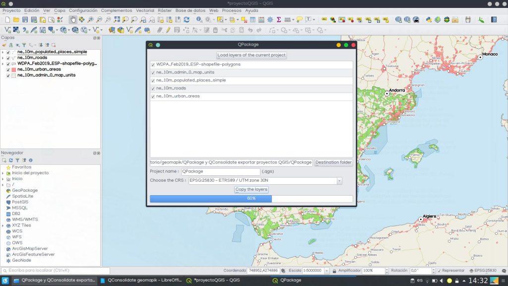QGIS QPackage plugin proyectos