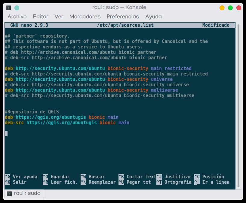 Instalacion QGIS Ubuntu Linux