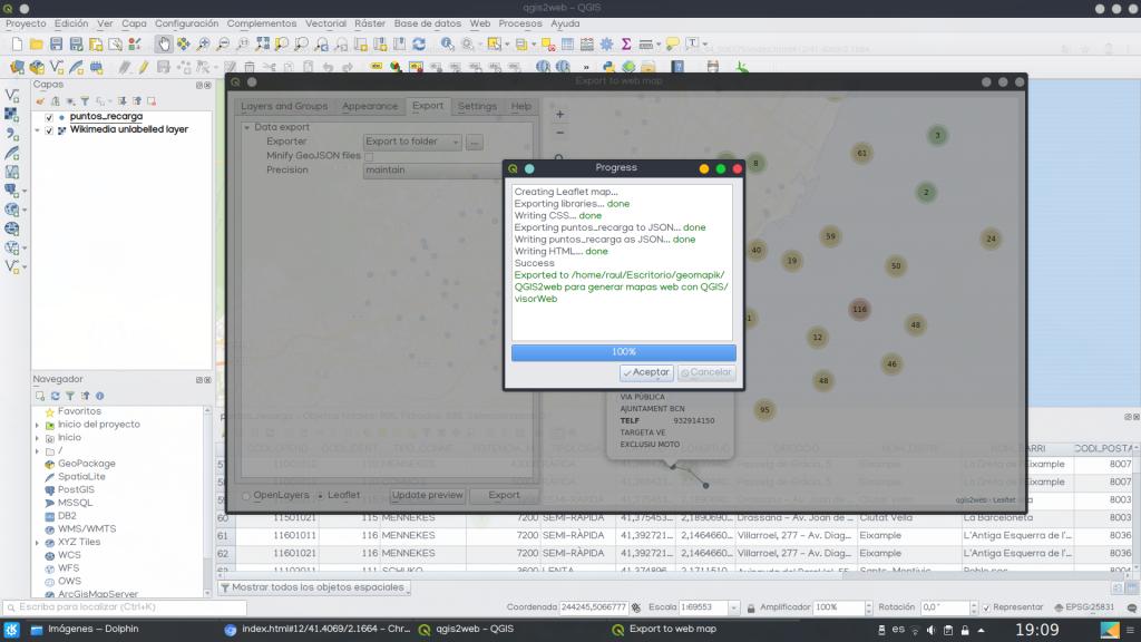 Cómo generar mapas web interactivos con qgis2web - geomapik