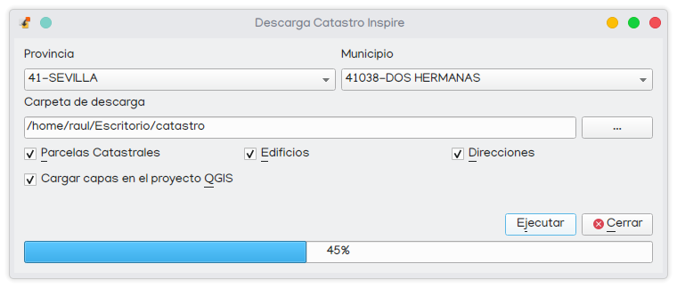 plugin descarga de datos catastro en qgis