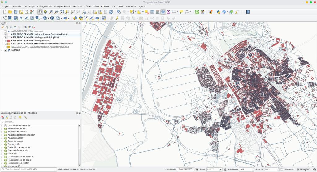 cartografía catastral en QGIS