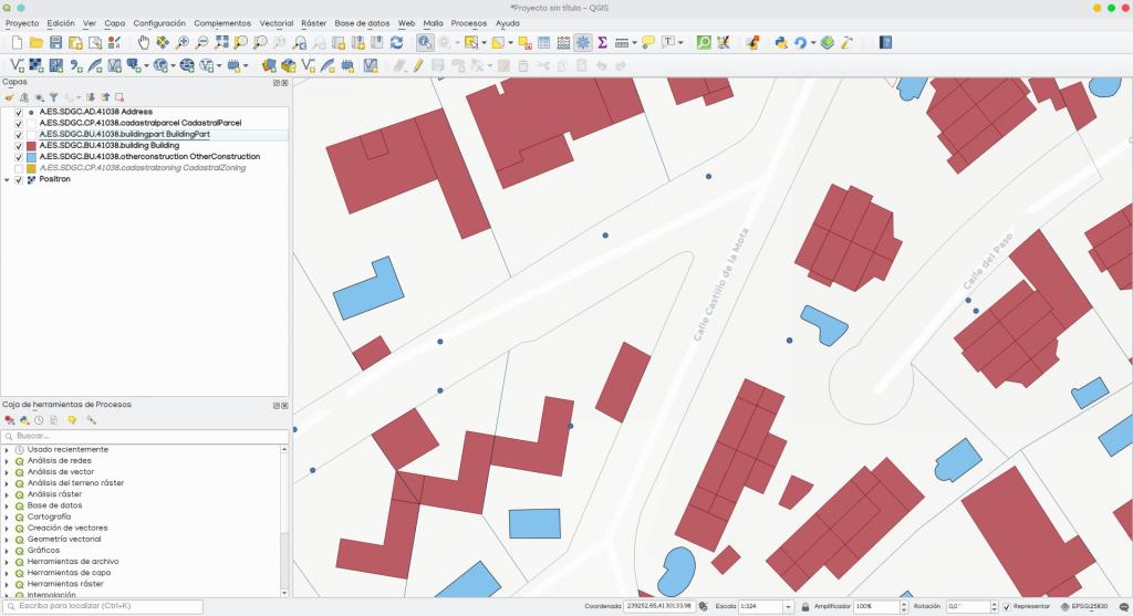 descargar cartografía parcelas edificios catastro