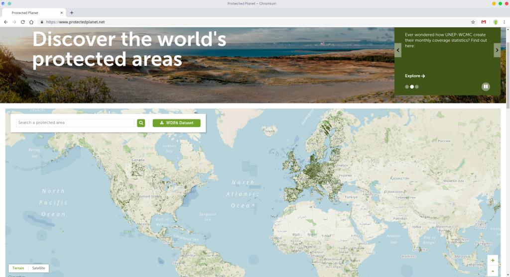descargar cartografía espacios protegidos protected planet