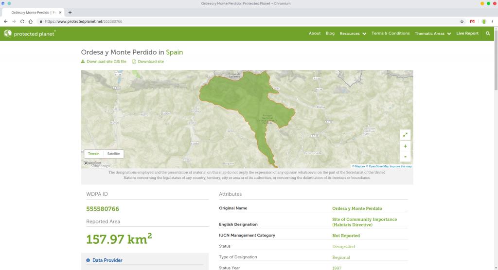 cartografía espacios naturales protegidos