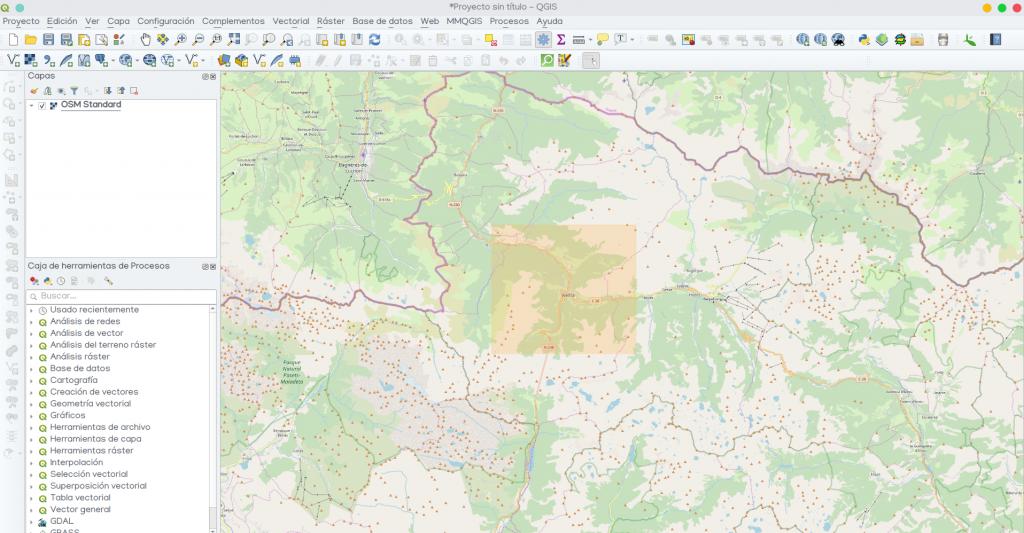 OpenStreetMap descargar datos QGIS